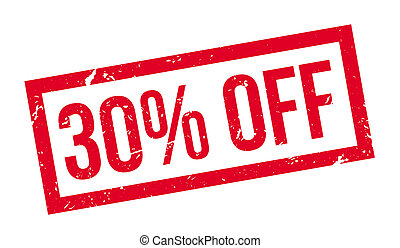 30 percent off rubber stamp