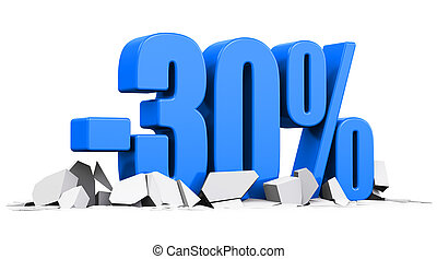 30 percent sale and discount advertisement concept