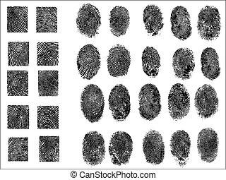 30, részletes, ujjlenyomatok