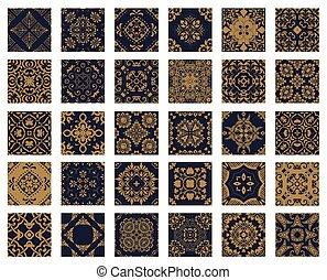 30 Seamless Patterns Background Set