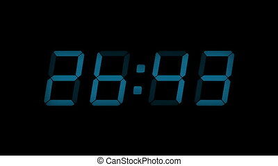 30 Second Count Down Blue Display - Digital timer display...