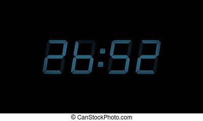 30 Second Digital Countdown Display Blue 4K - Digital timer...