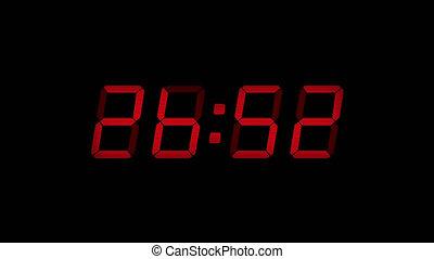30 Second Digital Countdown Display Red 4K - Digital timer...