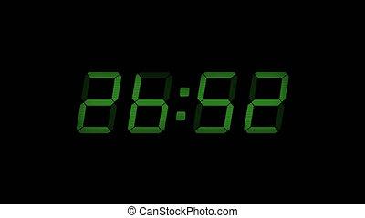 30 Second Digital Countdown Display Green 4K - Digital timer...