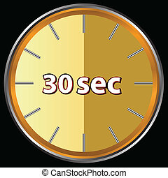 30 seconds - Unique icon of hours with thirty seconds