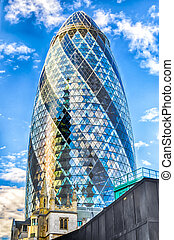 30 St Mary Axe aka Gherkin Building, London - LONDON - MAY...