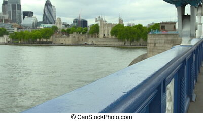 30 St Mary Axe   Cityscape   River Thames, London - Wide low...