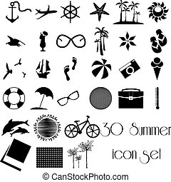30 Summer icon set