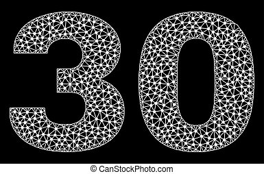 30 Text in Polygonal Mesh Style