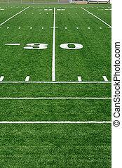 30 Yard Line on American Football Field
