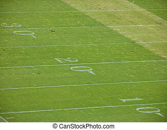 30 yardline to the 10 yardline on a beat-up field