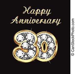 30 years anniversary birthday