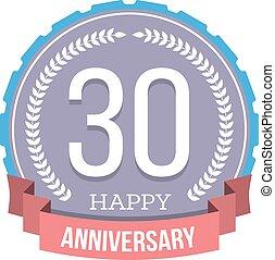 30 Years Anniversary Emblem