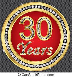 30 years anniversary, happy birthda