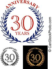 30 years anniversary heraldic laurel wreath