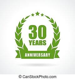 30 years anniversary icon