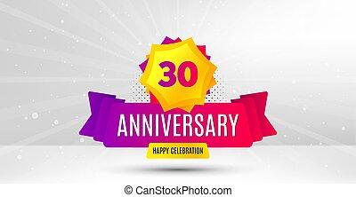 30 years anniversary. Thirty years celebrating. Vector