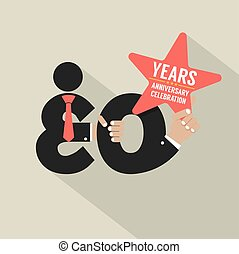 30 Years Anniversary Typography Design Vector Illustration