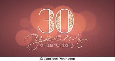 30 years anniversary vector banner
