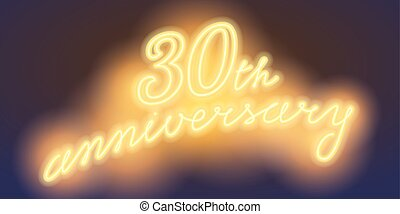30 years anniversary vector illustration, banner