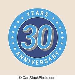 30 years anniversary vector icon, emblem