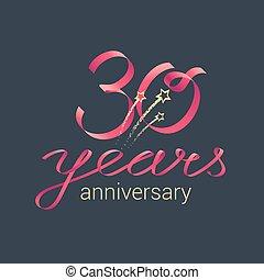 30 years anniversary vector icon - 30 years anniversary...
