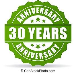 30 years anniversary vector icon
