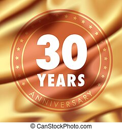 30 years anniversary vector icon, logo