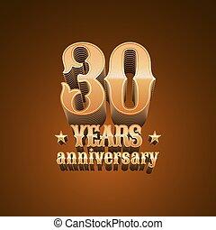 30 years anniversary vector logo