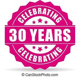 30 years celebrating vector icon