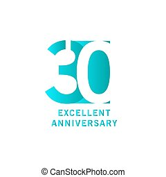 30 Years Excellent Anniversary Vector Template Design illustration