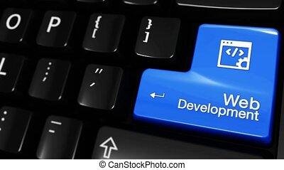 308. Web Development Moving Motion On Computer Keyboard Button.