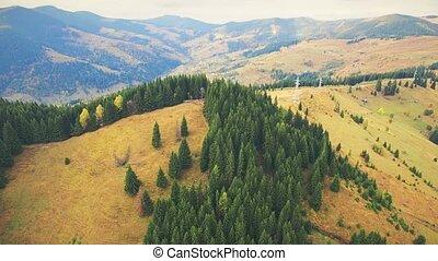 30fps, luchtopnames, 4k, carpathian, vlucht, bergen.
