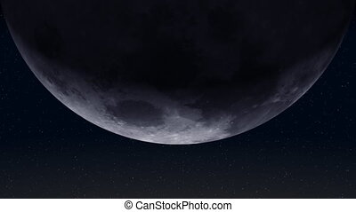 (30fps), lune, la terre, 01, planète