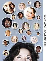30s, femme, gestion réseau, social