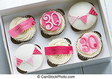 30th, γενέθλια , cupcakes