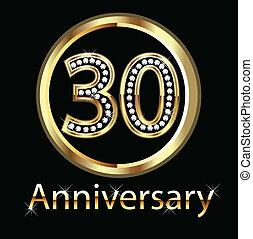 30th anniversary in gold and diamonds bling bling