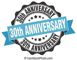 30th anniversary stamp. sign. seal