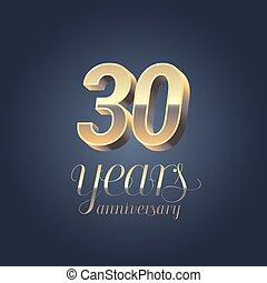30th anniversary vector icon, logo