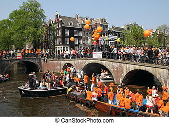 30th, elke, carnival-, april, koningin, amsterdam, jaar, ...