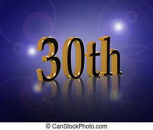 30th, födelsedag festa, inbjudan