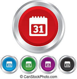 31, シンボル。, 印, icon., 月, カレンダー, 日