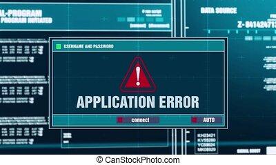 31. Application Error Warning Notification on Digital Security Alert on Screen.
