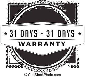 31 days warranty
