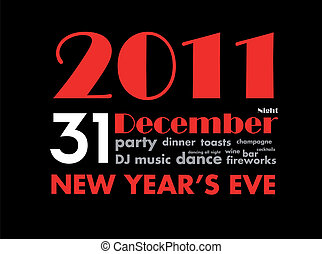 new year's eve ad illustration