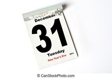 31. December 2013 - calendar sheet