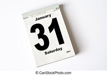 31. January 2015 - calendar sheet January 2015