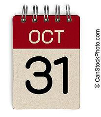 31 oct calendar
