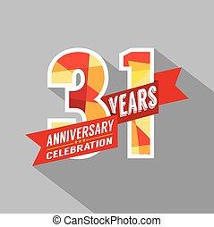 31, rocznica, celebration., lata