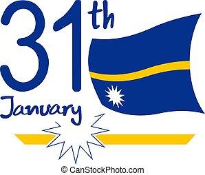 31 th nauru flag